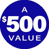 $500 value